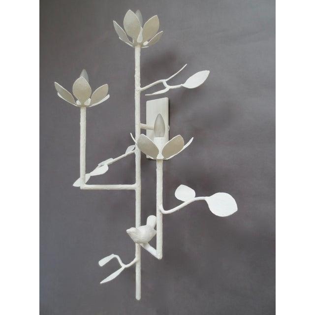 Metal Plaster Garden Sconce For Sale - Image 7 of 7