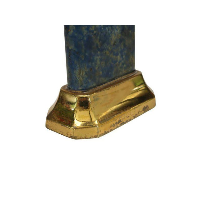Blue Aged Lift Arm Table Lighter by Dunhill - 50th Anniversary Sale For Sale - Image 8 of 9