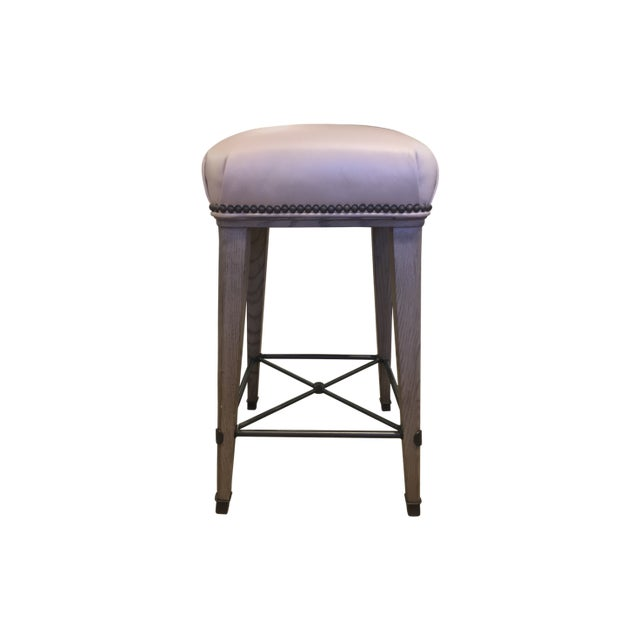 Textile Windsor Counter Stool For Sale - Image 7 of 7