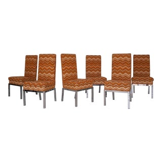 Set of 6 Mid-Century Modern Milo Baughman Dining Chairs For Sale