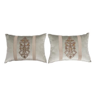 B. Viz Design Antique Empire Textile Pillows - a Pair For Sale