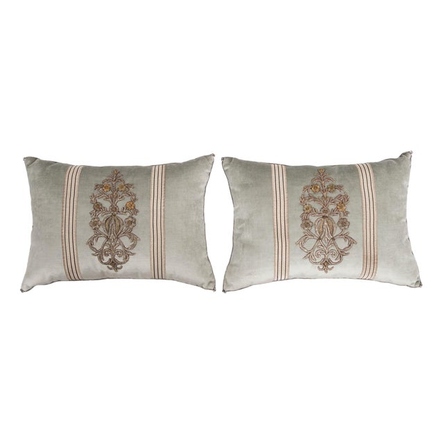 B. Viz Design Antique Textile Pillows For Sale