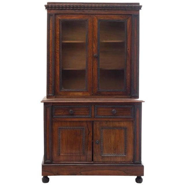 English Traditional Charming Diminutive 19th Century English Rosewood Step-back Cupboard For Sale - Image 3 of 3
