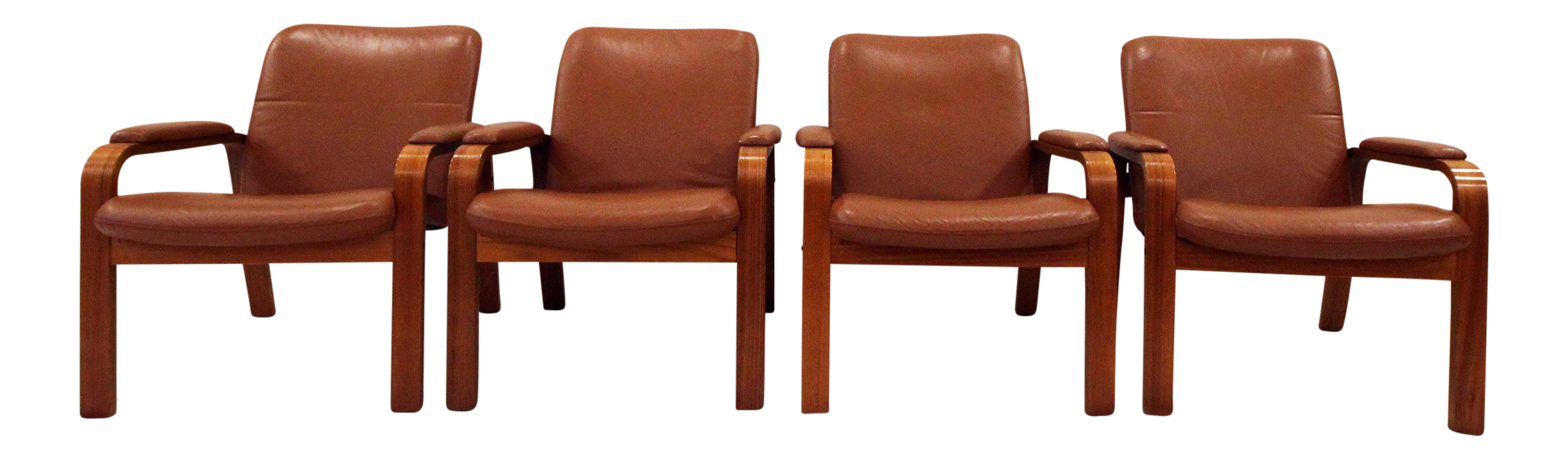 norwegian vintage office chair. Vintage Ekornes Norwegian Leather \u0026 Teak Armchairs- Set Office Chair P