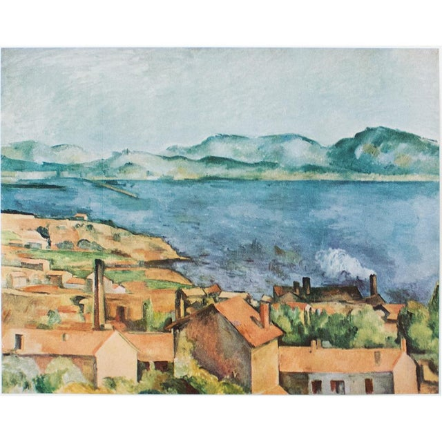 Blue Vintage The Bay From l'Estaque Lithograph by Cezanne For Sale - Image 8 of 8