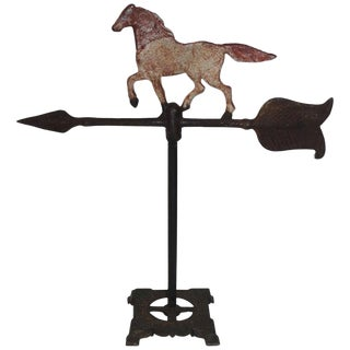 Iron Horse Weather Vane, Table Top For Sale