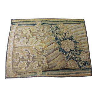 19th Century Green and Gold Verdure Tapestry Fragment For Sale