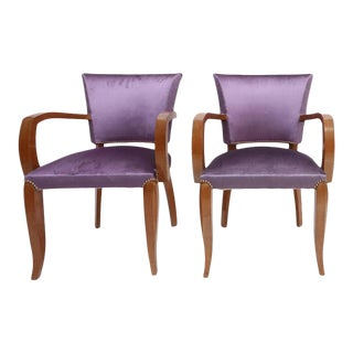 Pair of Purple Art Deco Armchairs