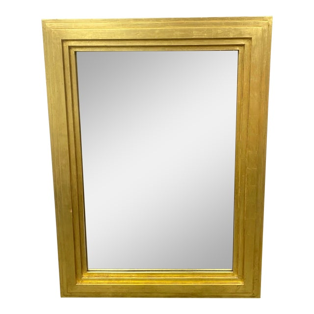 City C Studio Custom Gold Gilt Tiered Framed Mirror For Sale
