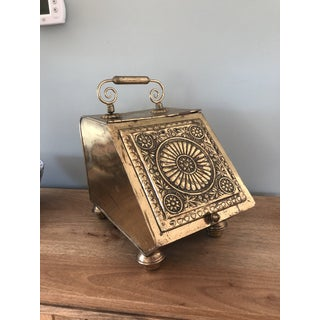 Antique Henry Loveridge Brass Coal Box Preview