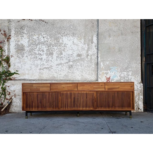 Wood Mid Century Modern Style Eclectic Credenza For Sale - Image 7 of 7