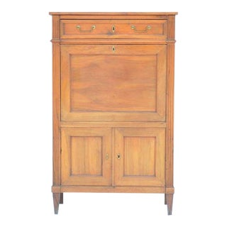 Elegant Louis XVI Cherrywood Secrétaire Cabinet For Sale