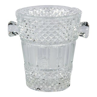 French Cut Crystal Champagne Bucket, 20th Century