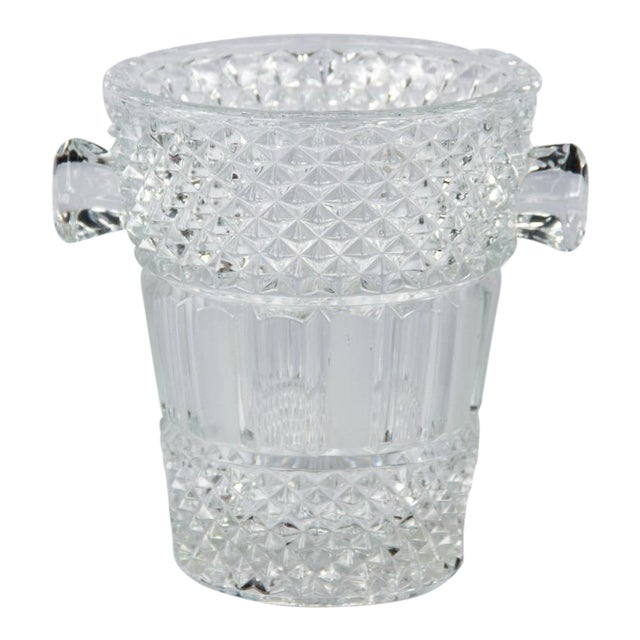French Cut Crystal Champagne Bucket, 20th Century - Image 1 of 11