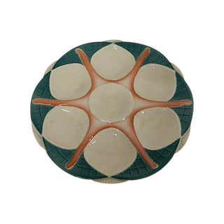 1900s French Sarreguemines Starfish Oyster Plate For Sale