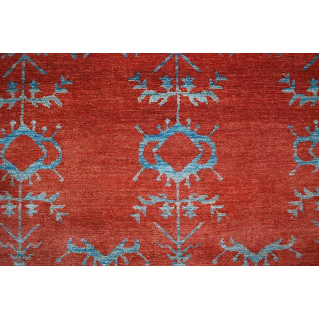 Traditional Vintage Gaba Blue and Red Rug 6x9 For Sale - Image 3 of 6