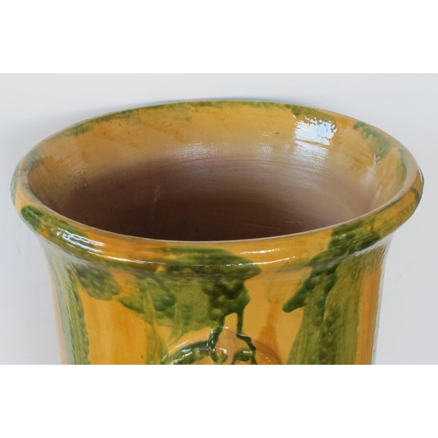 French Anduze Style Dripped-Glazed Pottery Urn For Sale - Image 4 of 7