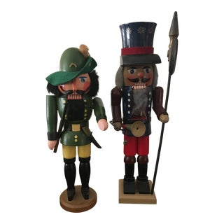 Vintage German Nutcrackers - A Pair For Sale