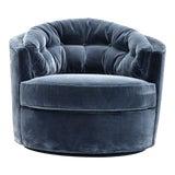 Image of Eichholtz Recla Blue Round Art Deco Accent Chair For Sale