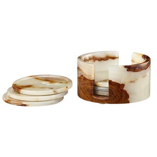White Marble Coaster Set - Set of 6