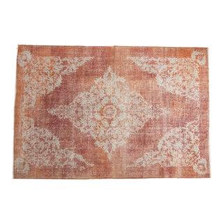 "Vintage Distressed Oushak Carpet - 6'9"" x 9'11"" For Sale"