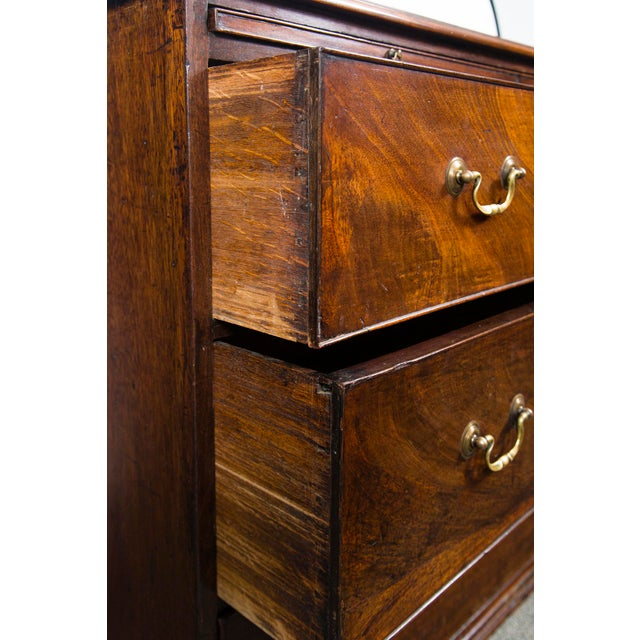 Metal English Mahogany Antique Chest With Brush Slide Circa 1880 For Sale - Image 7 of 11