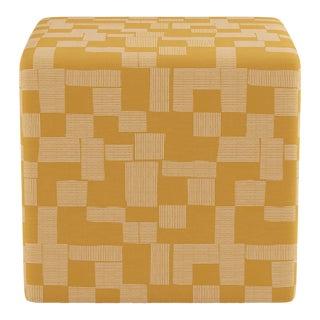 Cube Ottoman in Anni For Sale