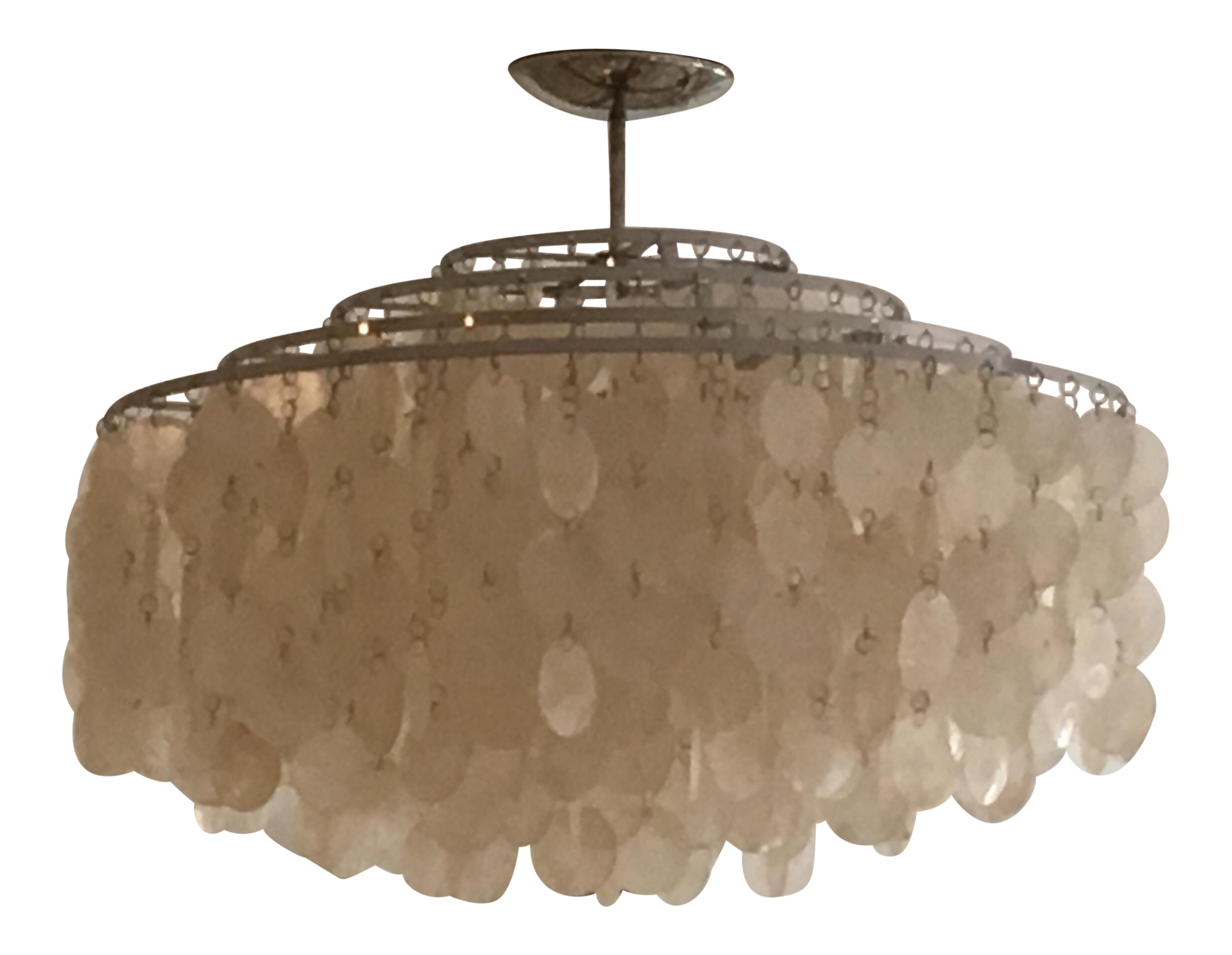 verner panton lighting. Verner Panton Capiz Shell Chandelier Lighting