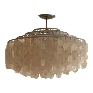 Verner Panton Capiz Shell Chandelier For Sale