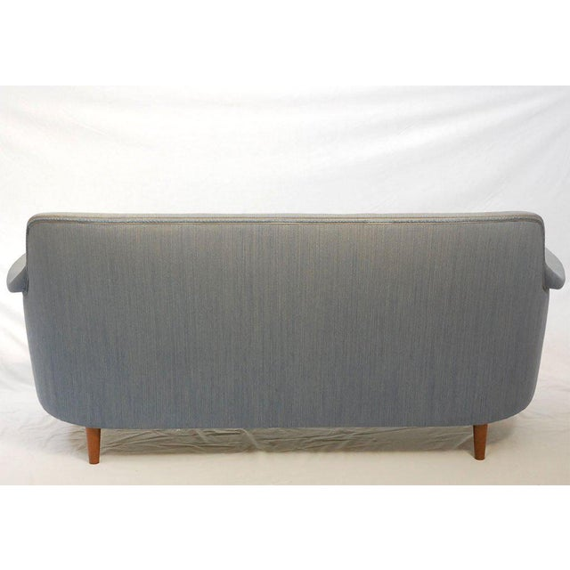 "Blue Carl Malmsten ""Samsas"" Sofa For Sale - Image 8 of 9"