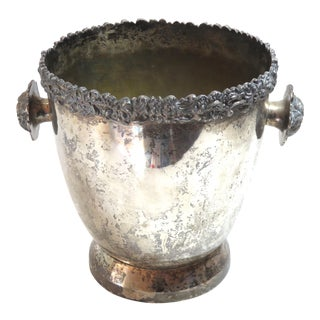 Vintage Argentinian Silverplate Champagne Bucket For Sale