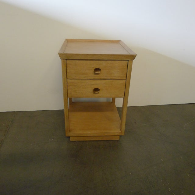 Modern Paul Marra Two-Tier Nightstand in Rift Sawn Oak Natural Finish For Sale - Image 3 of 10