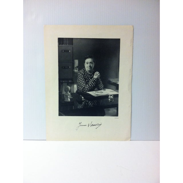 """This is a Vintage Art Et Style French Print on Paper that is titled """"Jeanne Lanvin"""". The Print was Published by Robert..."""