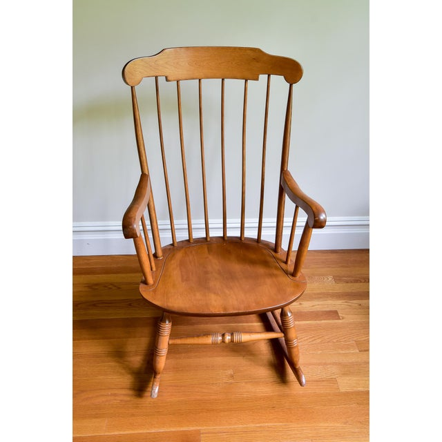 Brown 1960s Vintage Nichols & Stone Co. Boston Style Rocking Chair For Sale - Image 8 of 8