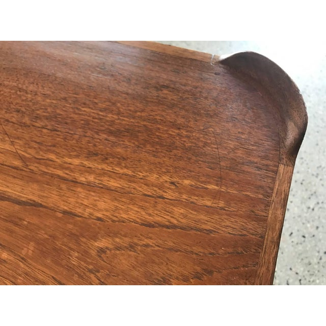 Teak 1950s Mid-Century Modern Finn Juhl for Baker Teak Card Table For Sale - Image 7 of 10