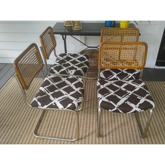 Woven Cesca Style Chairs - Set of 4 - Image 3 of 7