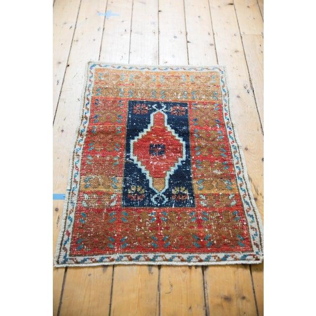 "Cotton Vintage Distressed Oushak Rug - 2'2"" X 3'3"" For Sale - Image 7 of 8"