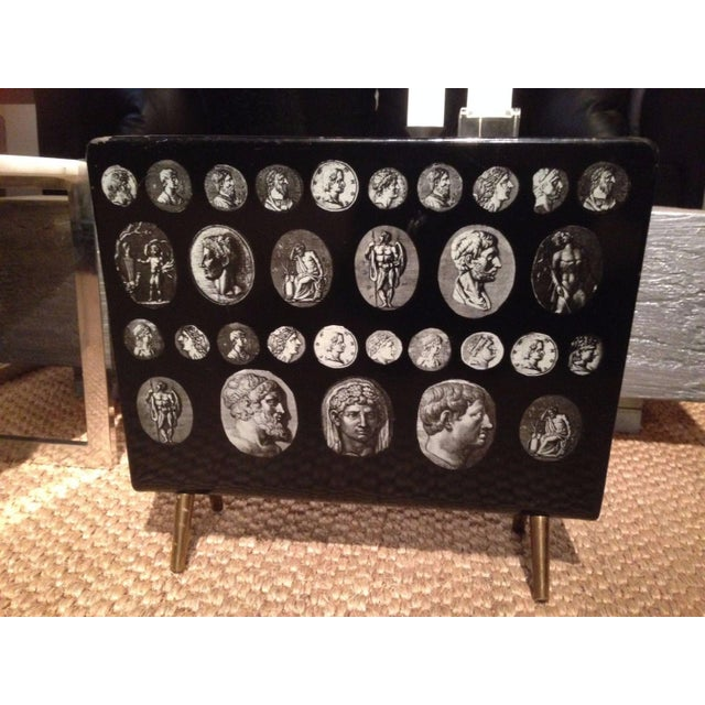 Piero Fornasetti Magazine Stand in Black & White - Image 2 of 9