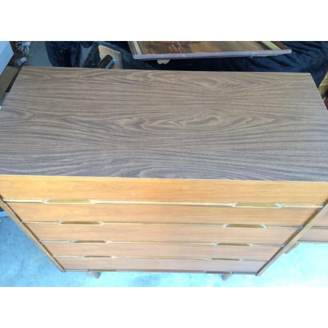 Mid-Century Modern Highboy Chest of Drawers - Image 4 of 7