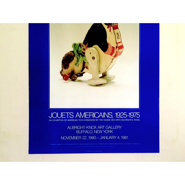 """Americana """" Jouets Americains 1925 - 1975 """" Rare 1980 Lithograph Print Vintage Toys Museum Exhibition Poster For Sale - Image 3 of 11"""