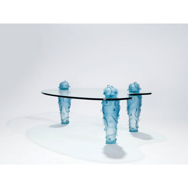 Blue Large Coffee Table by Garouste & Bonetti, 1990s For Sale - Image 8 of 13