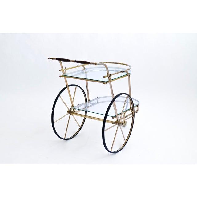 Italian Brass Bar Cart - Image 6 of 7
