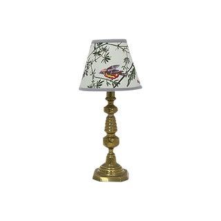 Vintage English Lamp / Pendant Shade W/ Birds