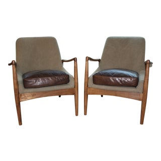 Mid-Century Accent Chairs - A Pair
