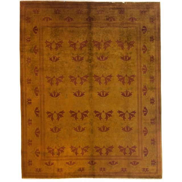 """Traditional Hand Knotted Area Rug - 8'1"""" X 10'1"""" For Sale"""