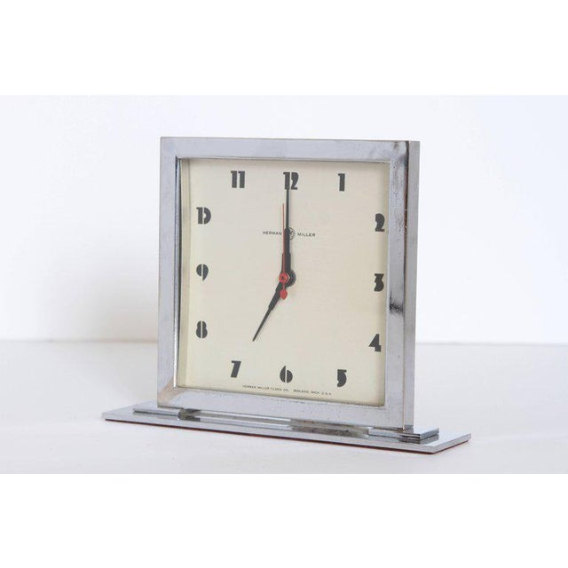 Machine Age Art Deco Gilbert Rohde for Herman Miller Original Working Clock Original model, with the signed H-M face and...