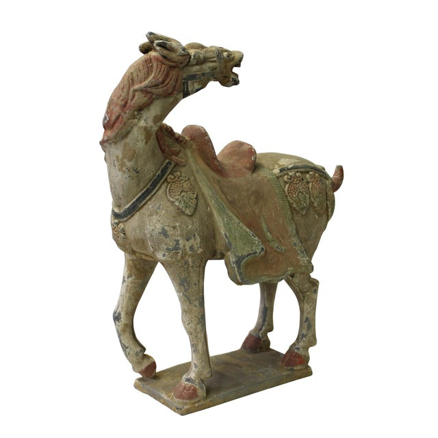 Chinese Pottery Clay Ancient Style Rustic Horse Figure - Image 2 of 7