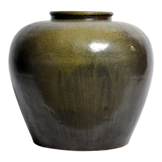 Antique Chinese Green Glazed Pot For Sale
