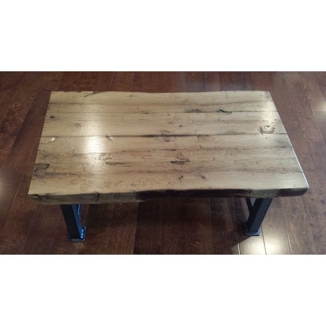 Industrial Reclaimed White Oak Coffee Table - Image 5 of 7