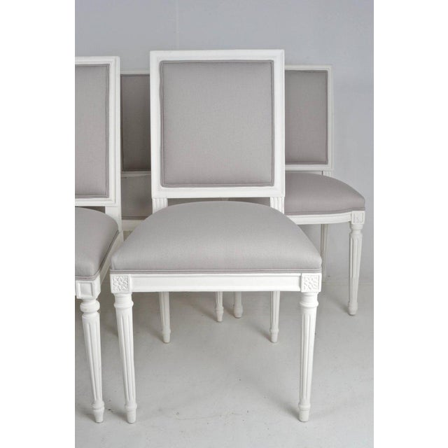 Louis XVI-Style Dining Chairs - Set of 8 - Image 2 of 8